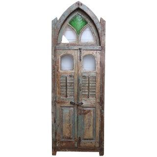 Mid-19th Century Vintage Teak Wood Gothic Window For Sale