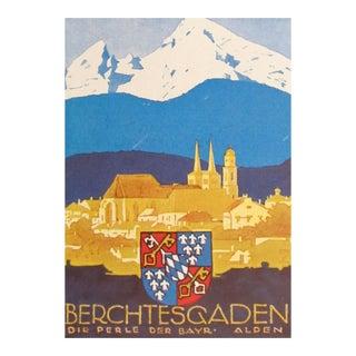 1927 German Art Deco Mini Poster, Berchtesgaden