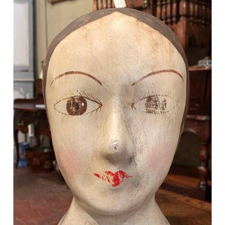 19th Century French Hand Painted Papier Mâché Marotte Bust Preview