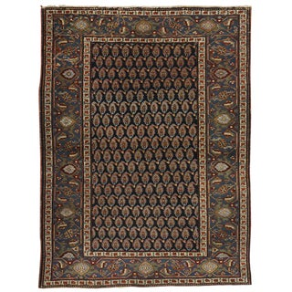 20th Century Persian Heriz With American Colonial Style - 4′10″ × 6′1″ For Sale