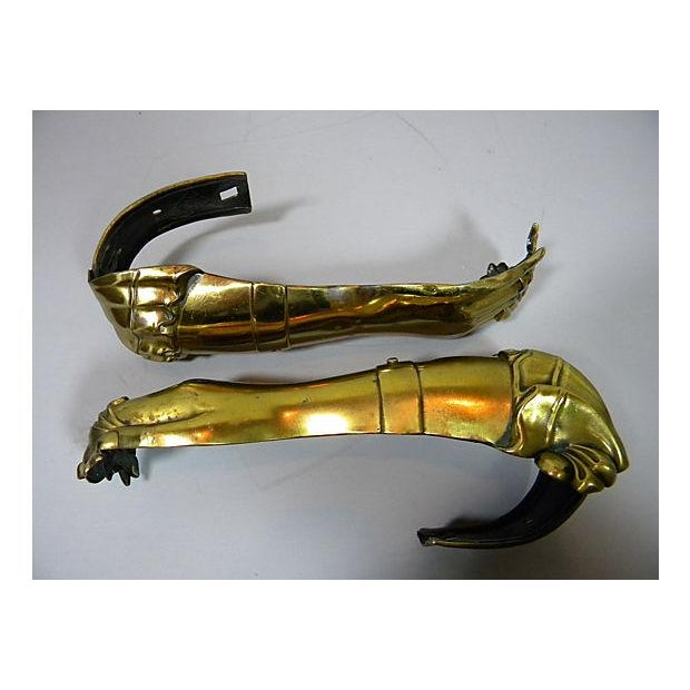 Antique English Victorian Hand Tiebacks - A Pair - Image 3 of 7