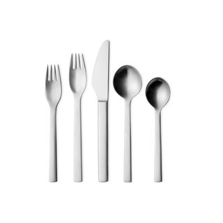 Georg Jensen Scandinavian New York Cutlery - 5 Piece Set For Sale