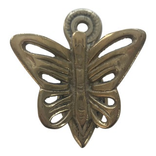Vintage Brass Butterfly Clip For Sale