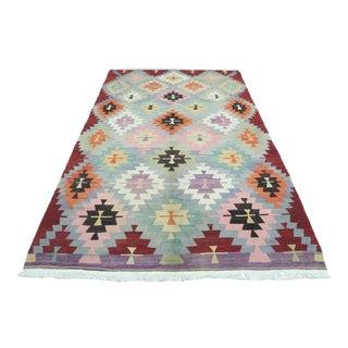 Vintage Turkish Antalya Kilim Flatweave Rug For Sale