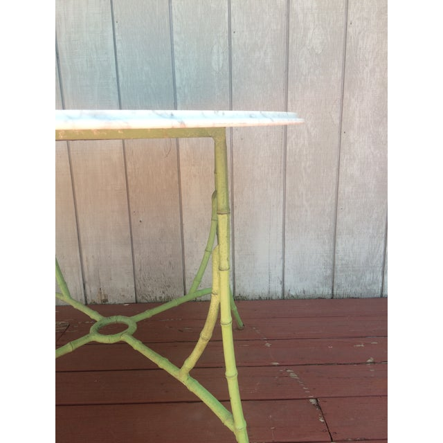 Marble Top Bistro Table - Image 5 of 8