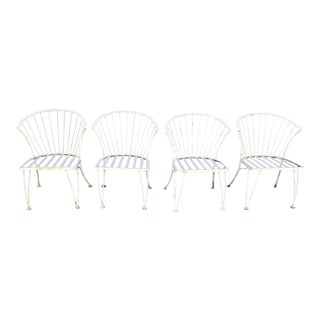 1960s Iron Garden Chairs by Woodard - Set of 4 For Sale