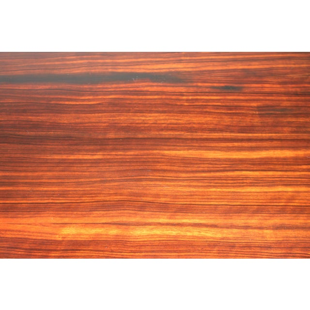 C 1930's French Art Deco Exotic Macassar Ebony Dining Table For Sale In Miami - Image 6 of 12