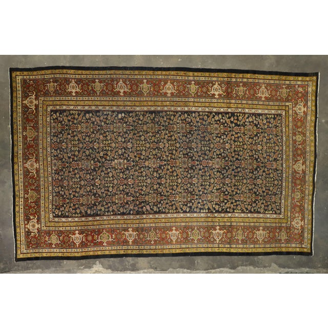 Green Late 19th Century Antique Persian Sultanabad Palace Rug- 10′2″ × 16′4″ For Sale - Image 8 of 9