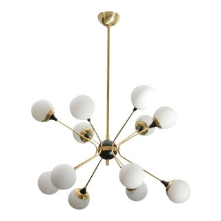 Brass Orbiter Chandelier For Sale