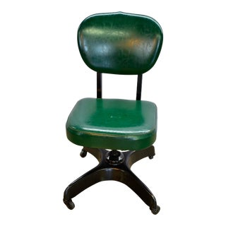 1950s Vintage Swivel Tanker Office Chair For Sale