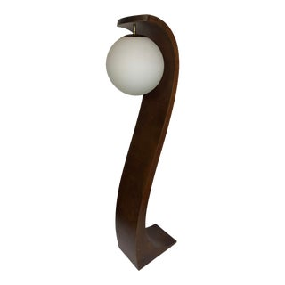 Mid-Century Modern Sculptural Teak Cobra Floor Lamp by Modeline For Sale