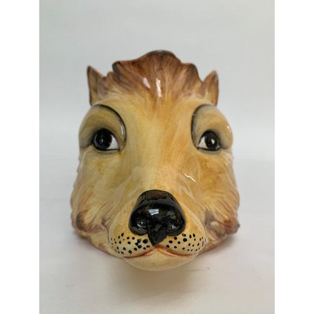 Italian Porcelain Fox Head Vase or Cachepot For Sale In New York - Image 6 of 11