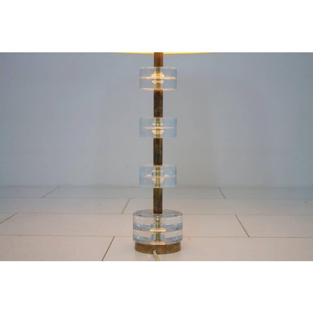 Brass and Glass Table Lamp by Luxus Sweden, Circa 1960s For Sale - Image 6 of 9