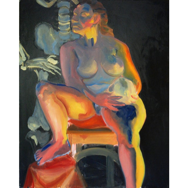 Original Female Nude Oil Painting - Image 2 of 4