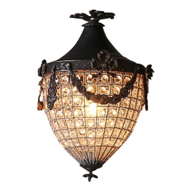 Small French Beaded Chateau Chandelier - Image 1 of 4