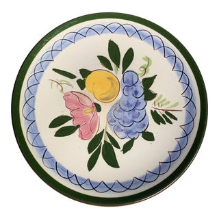 """Mid-Century Stangl Pottery """"Fruit and Flowers"""" Bread Plate For Sale"""