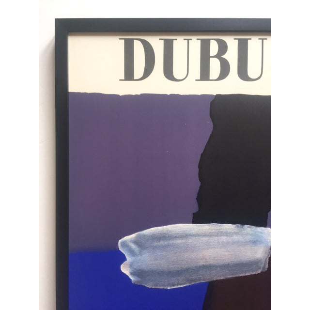 1960s Fernand Dubuis Rare Vintage 1966 Mid Century Modern French Silkscreen Print Framed Abstract Expressionist Exhibition Poster For Sale - Image 5 of 13