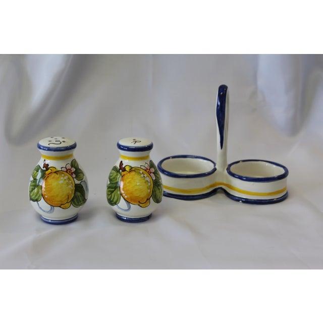 Vintage Italian Deruta Lemon Ceramic Salt and Pepper Shakers For Sale In Dallas - Image 6 of 8