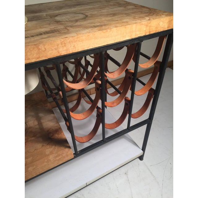 Arthur Umanoff Bar Cart With Wine Rack and Butcher Block For Sale In Chicago - Image 6 of 9