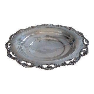 Vintage Silver 800 Bonbon Platter For Sale