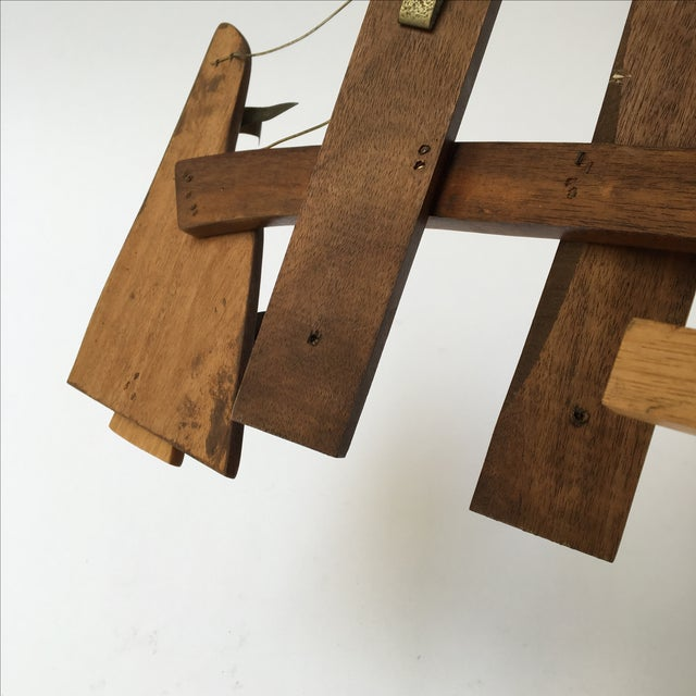 Vintage Wooden Wall Sculpture - Image 9 of 10