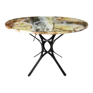 Mid-Century Roger Sprunger for Dunbar Bronze & Onyx Center Table For Sale