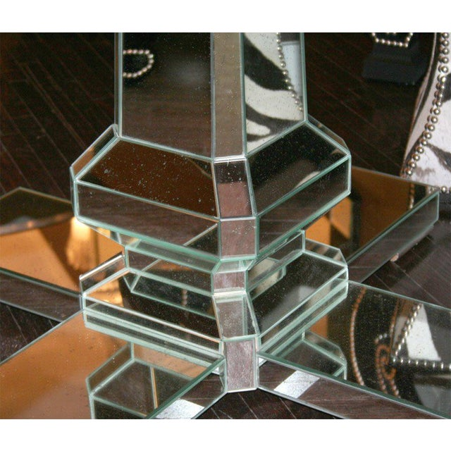Modern Custom Mirrored Center Hall Table For Sale - Image 3 of 7