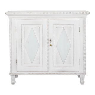 Swedish Two Door Cabinet With Fluted Diamond Front