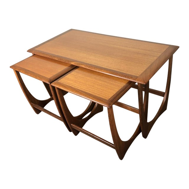 Mid Century Teak Coffee and Nesting Table Set by G Plan For Sale