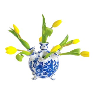 Blue & White Delft Tulipiere Vase