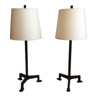 Modern Visual Comfort Three-Legged Table Lamps- A Pair For Sale