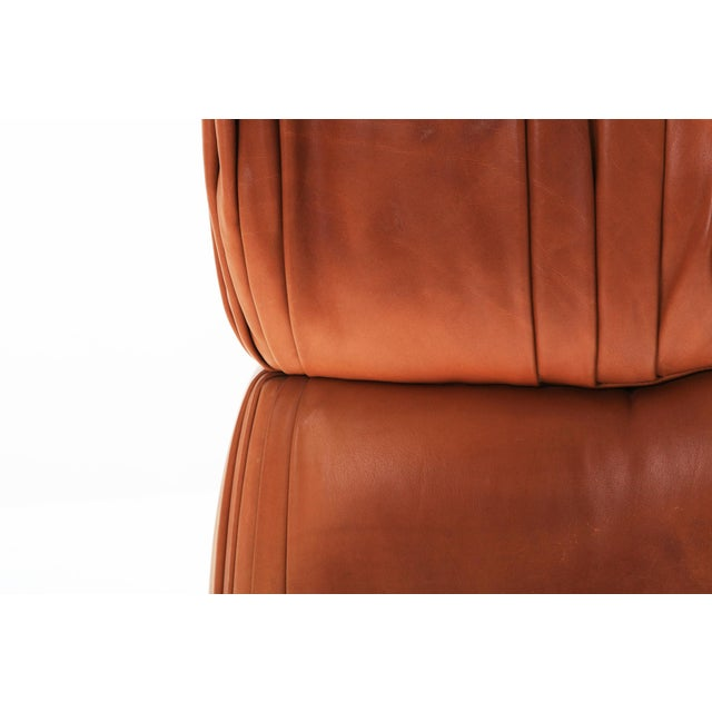 Brown Sectional Cognac Leather Sofa 'Cosmos' by De Sede, Switzerland For Sale - Image 8 of 10