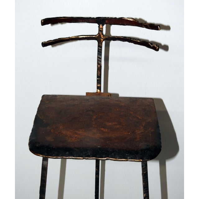 Mid-Century Modern Giacometti Style Bar Stools - A Pair - Image 5 of 8
