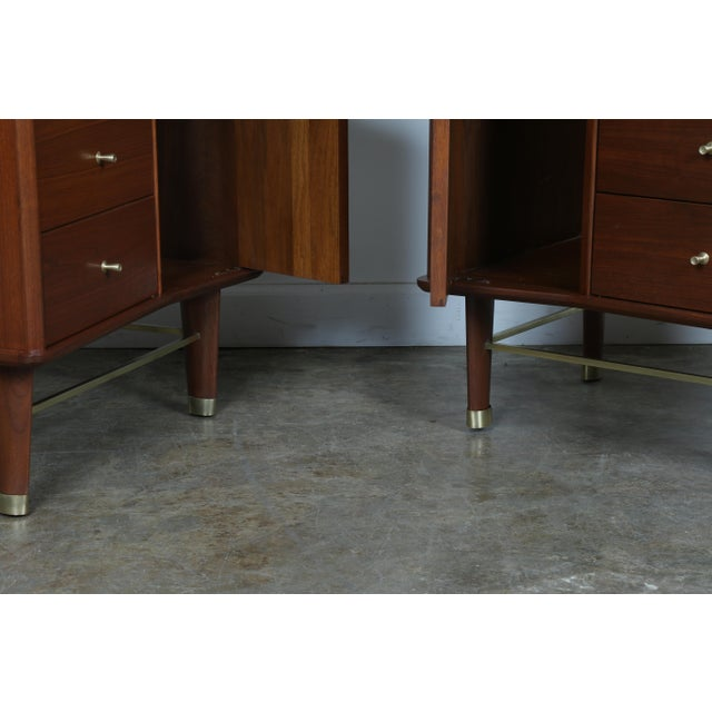 Refinished Walnut Side Tables Nightstands - A Pair - Image 8 of 11