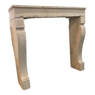 Antique Limestone Mantel, circa 1780