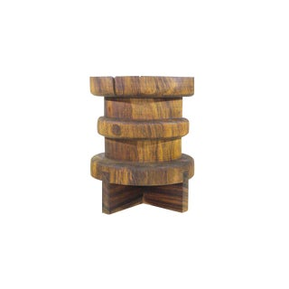 Contemporary Tito Side Table, Natural Solid Burl by Labrica For Sale