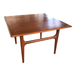Mid Century Danish Modern Teak Coffee Table by Trioh For Sale