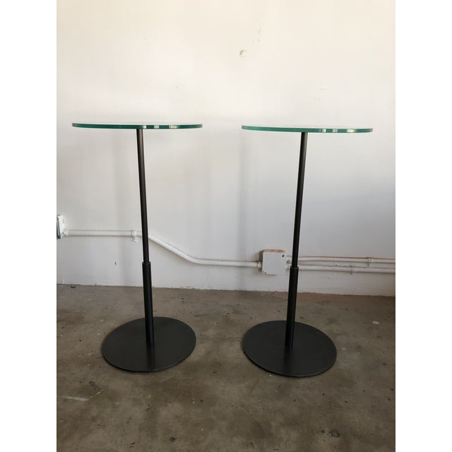Late 20th Century Glass & Bronze Cocktail Tables - A Pair For Sale - Image 4 of 4