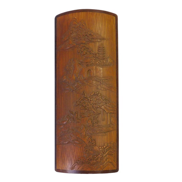 Asian Carved Bamboo Plaque - Image 2 of 5