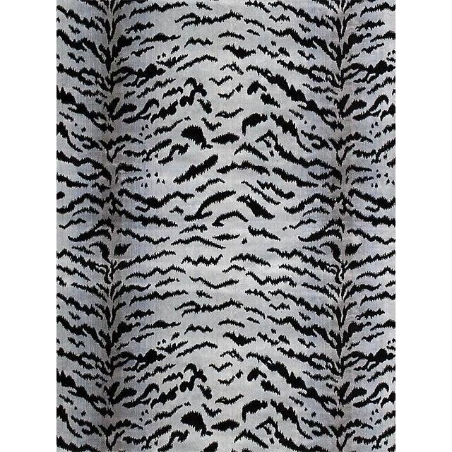 """Contemporary Sample, Scalamandre Tigre, Silver & Black Fabric, Repeat 32""""L x 26""""W For Sale - Image 3 of 3"""