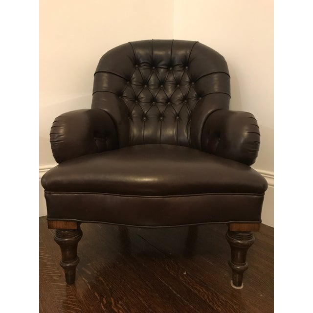 Ralph Lauren Home Collection Classic Leather Club Chair - Image 2 of 6