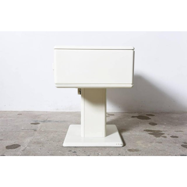 White Adjustable White Counter Display, Vanity Table, Made in Italy For Sale - Image 8 of 9