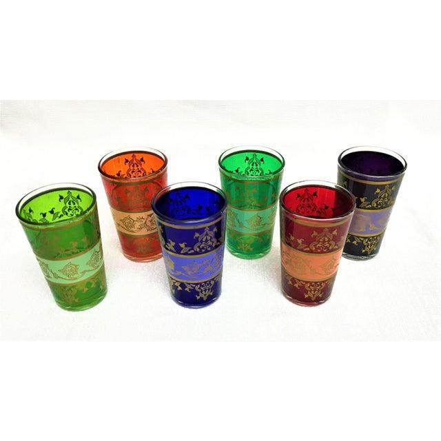 Moroccan Handpainted Tea Glasses - Set of 6 - Image 2 of 5