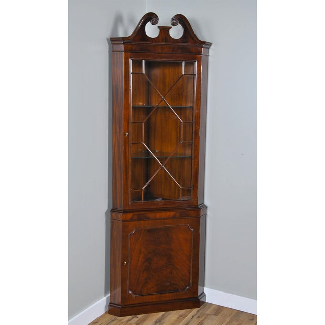 Traditional Niagara Furniture Mahogany Corner Cabinet For Sale - Image 3 of 8