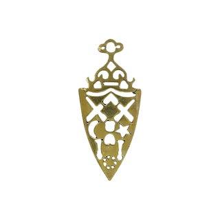 Antique English Brass Masonic Trivet For Sale