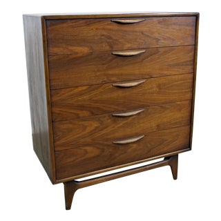 Mid-Century Modern Warren Church Lane Perception Tall Chest of Drawers For Sale