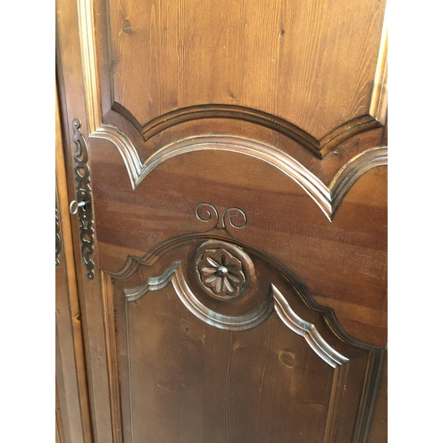 Traditional 1990s Traditional Spanish Armoire For Sale - Image 3 of 13
