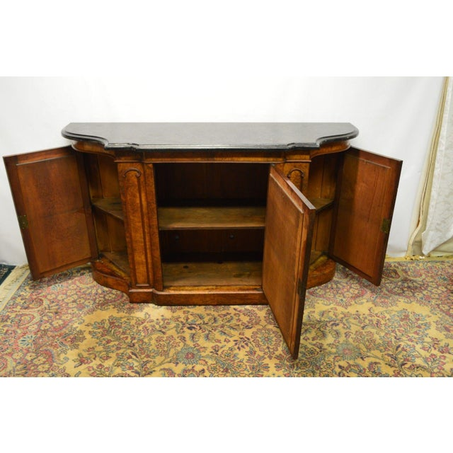 Antique 1800's Burl Walnut Mirrored Sideboard For Sale - Image 9 of 11