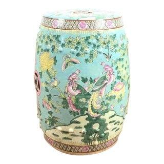 Contemporary Chinese Painted Ceramic Garden Stool