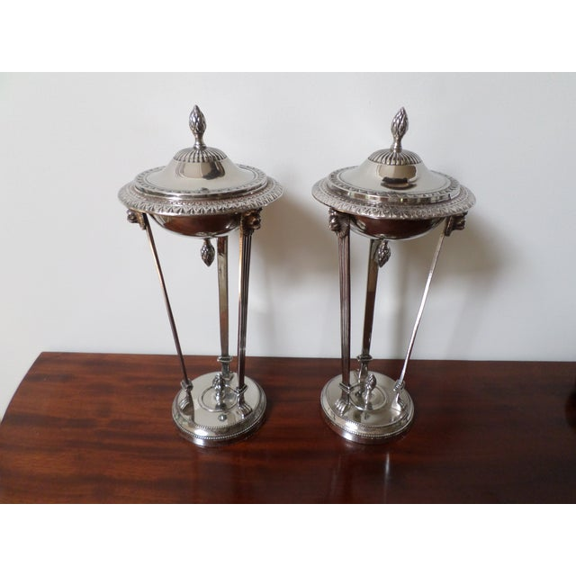 Bombay Company Regency Style Silver-Plate Sweetmeat Dishes - a Pair For Sale - Image 13 of 13